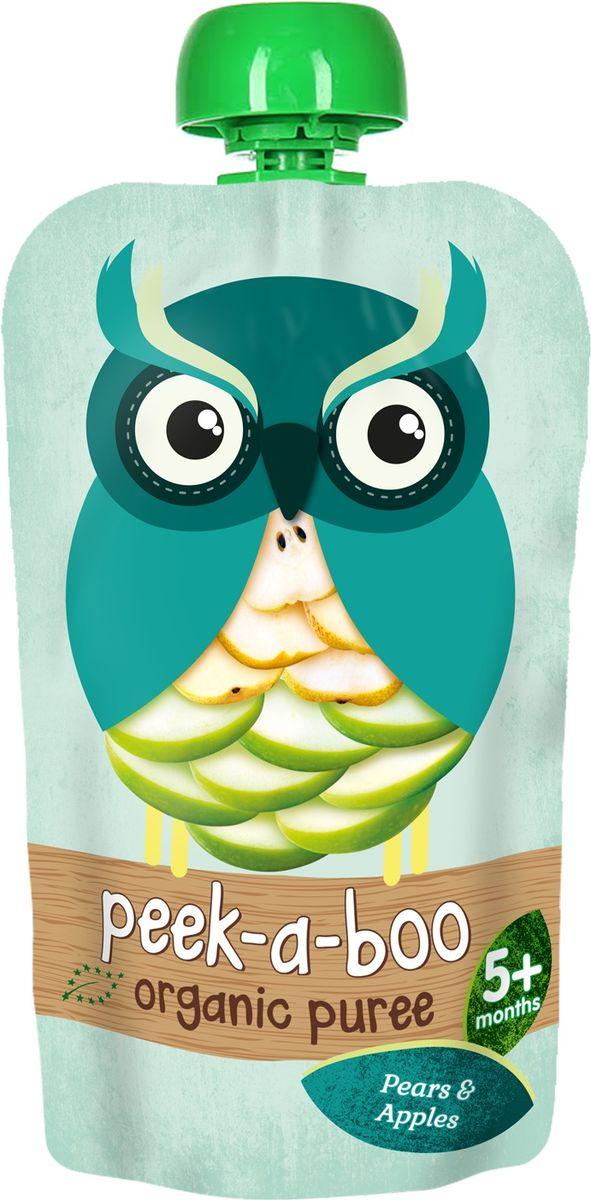 Peek-a-boo пюре органическое яблоко, груша, с 5 месяцев, 113 г