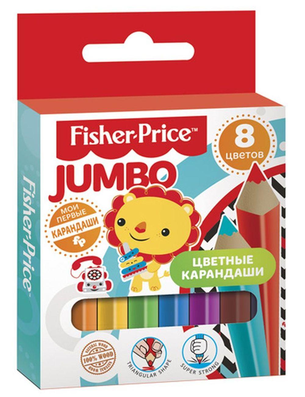 Mattel Набор цветных карандашей Mini Jumbo Mattel Fisher Price 8 цветов mattel набор фигурок fisher price shimmer