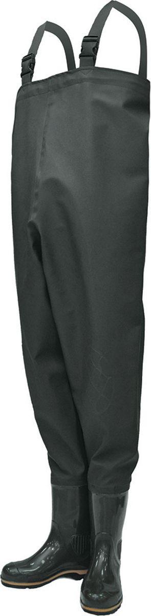 Полукомбинезон рыбацкий мужской Nordman Z, с расширенным голенищем, цвет: оливковый. ps_15_3_pk-081-42. Размер 42