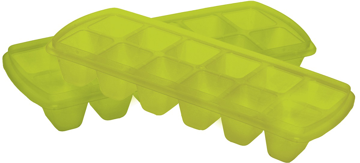 Форма для льда Plast Team, цвет: мультиколор, 12 ячеек, 2 шт цена