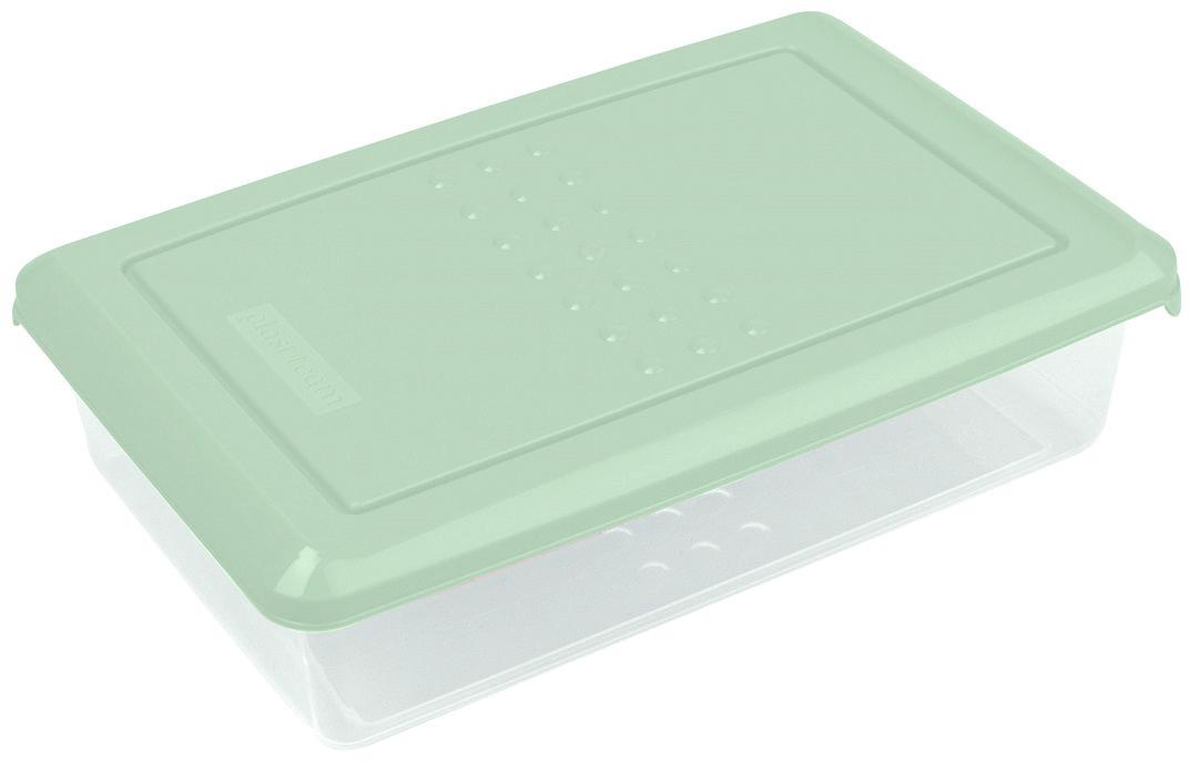 Контейнер пищевой Plast Team Pattern, цвет: мятный, 0,75 л, 18,5 х 12 х 4,8 см емкость для хранения продуктов plast team pattern 0 8 л