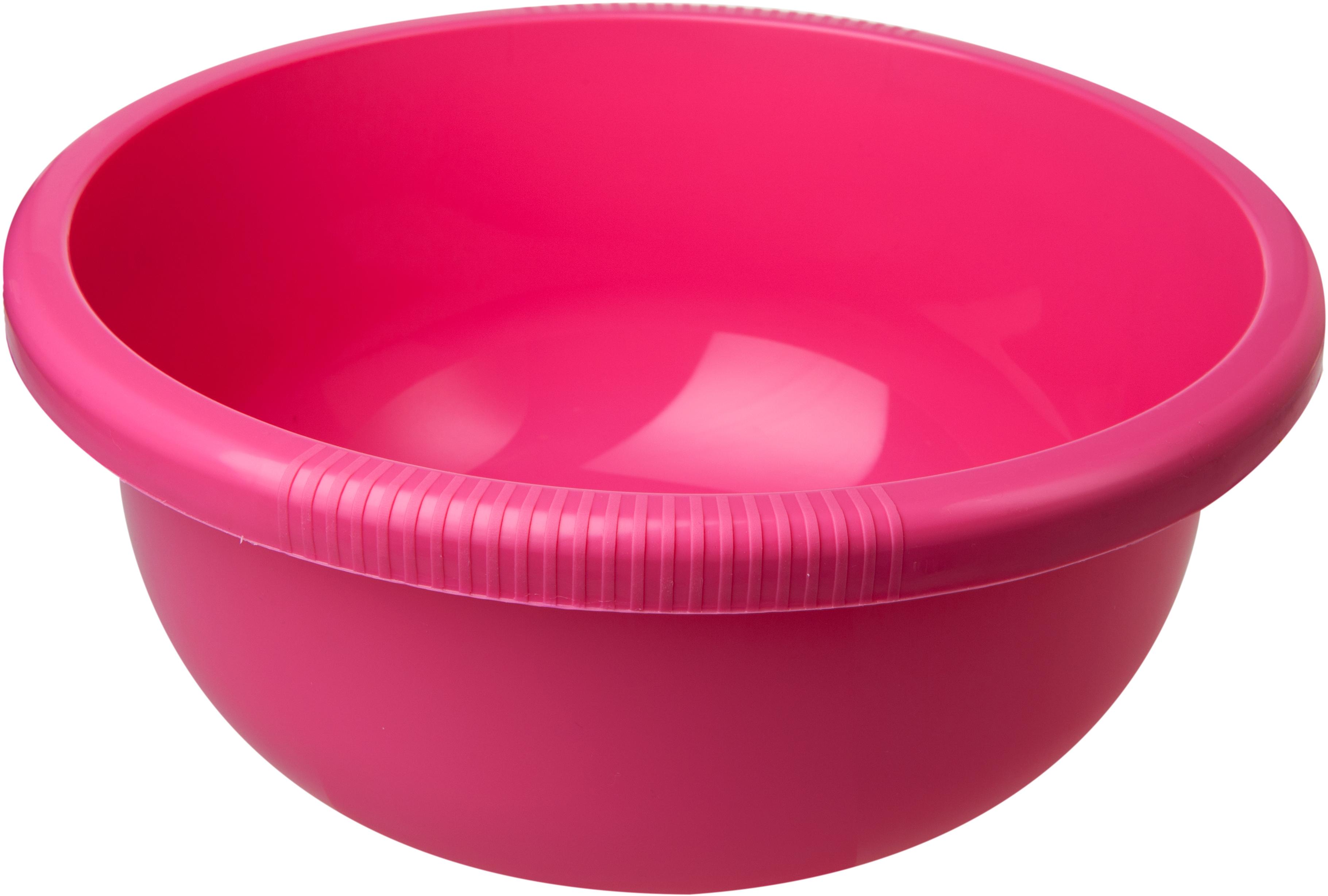 """Миска """"Plast Team"""", цвет: коралловый, круглая, 4 л"""