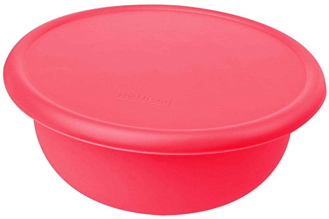 Миска Plast Team, цвет: коралловый, с крышкой, 2,1 л емкость для хранения продуктов plast team pattern 0 8 л