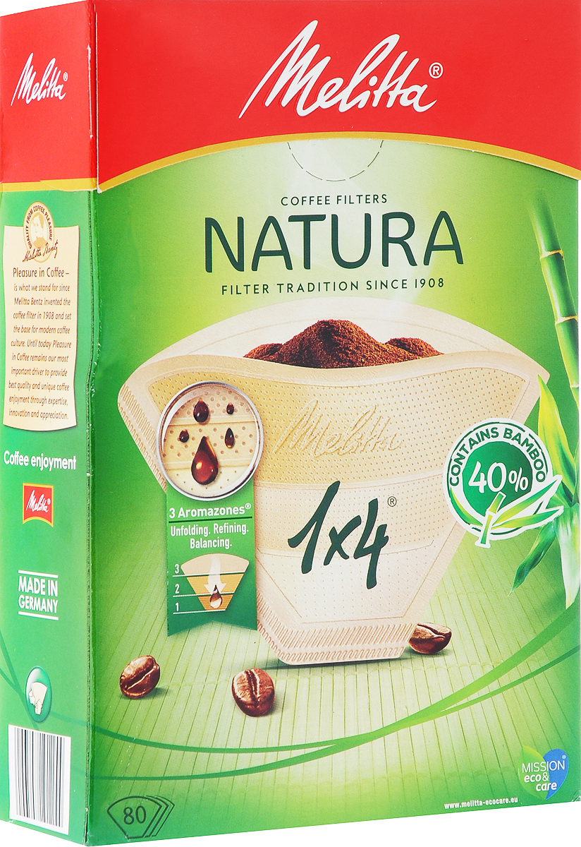 Melitta Naturaфильтры для заваривания кофе, 1х4/80 Melitta