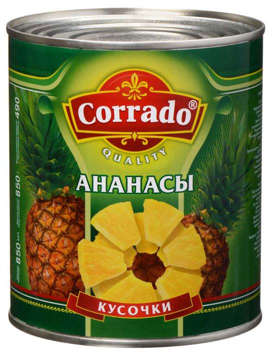 Corradoананасы кусочки, 850 мл Corrado