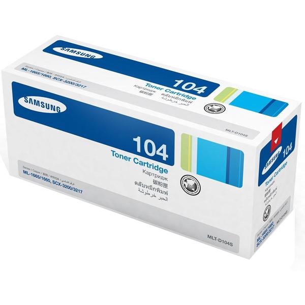 Картридж Samsung MLT-D104S, черный, для лазерного принтера, оригинал