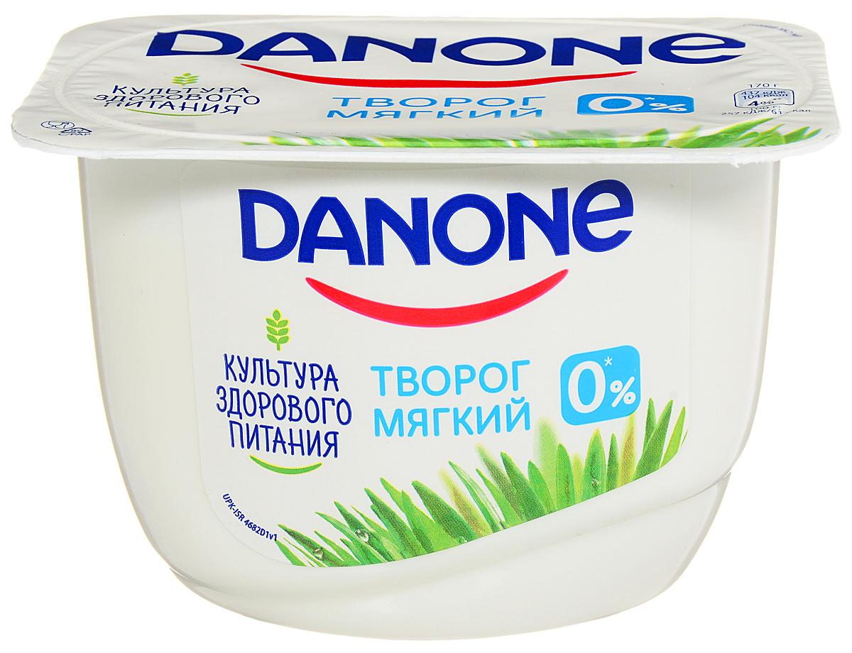 Danone Творог мягкий Натуральный 0,1%, 170 г danone продукт творожный персик абрикос 3 6% 170 г