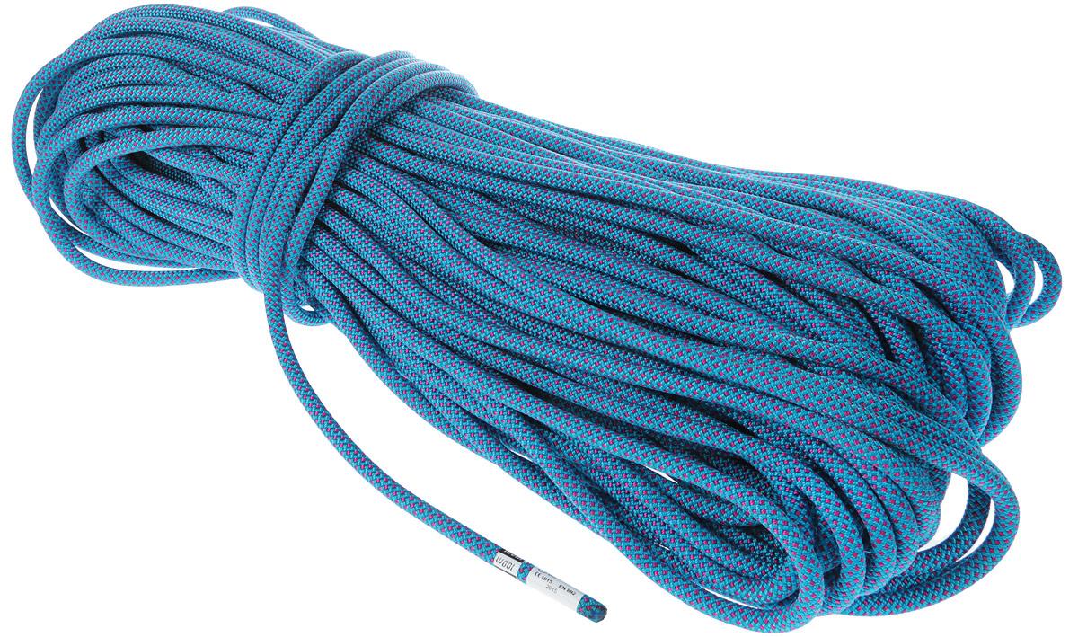 Веревка динамическая VENTO Factor, с водоотталкивающей пропиткой, цвет: голубой, диаметр 10 мм, длина 200 м закладка для альпинизма vento сувенирная