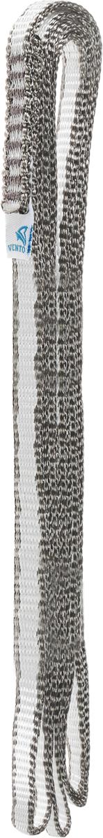 Петля стационная VENTO Лайт, стропа 10 мм, цвет: серый, длина 250 см закладка для альпинизма vento сувенирная