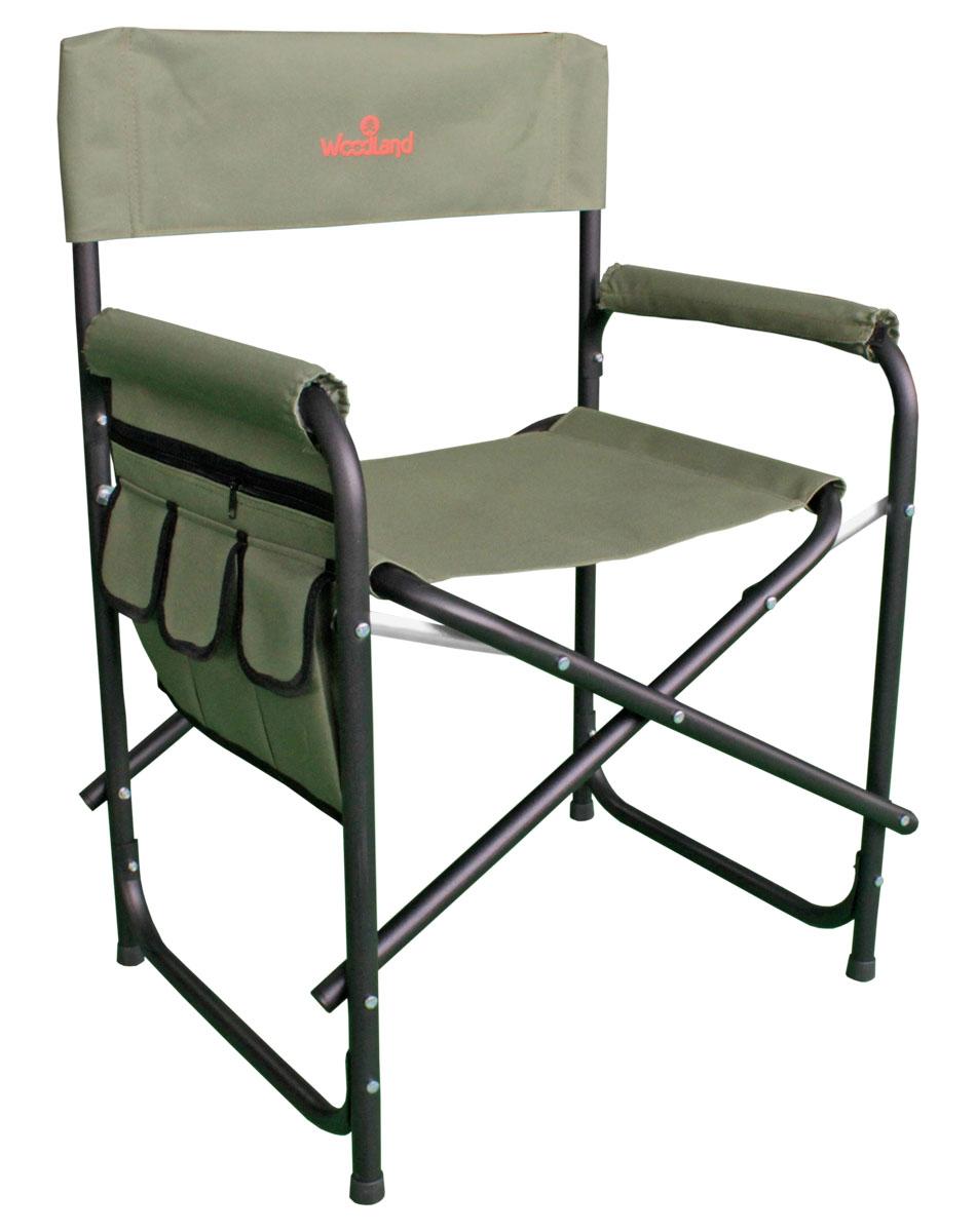 Кресло складное Woodland Outdoor Plus, цвет: оливковый, черный, 56 x 57 x 50 (81) см кресло woodland ck 100 comfort складное кемпинговое 54 x 54 x 98 см сталь