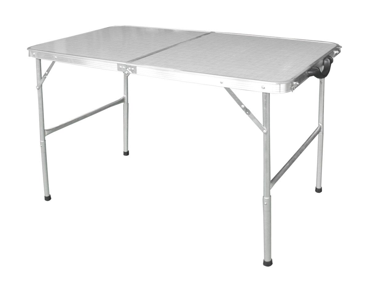 Стол складной Woodland Family Table, цвет: серый, серебристый, 120 x 60 x 70 см