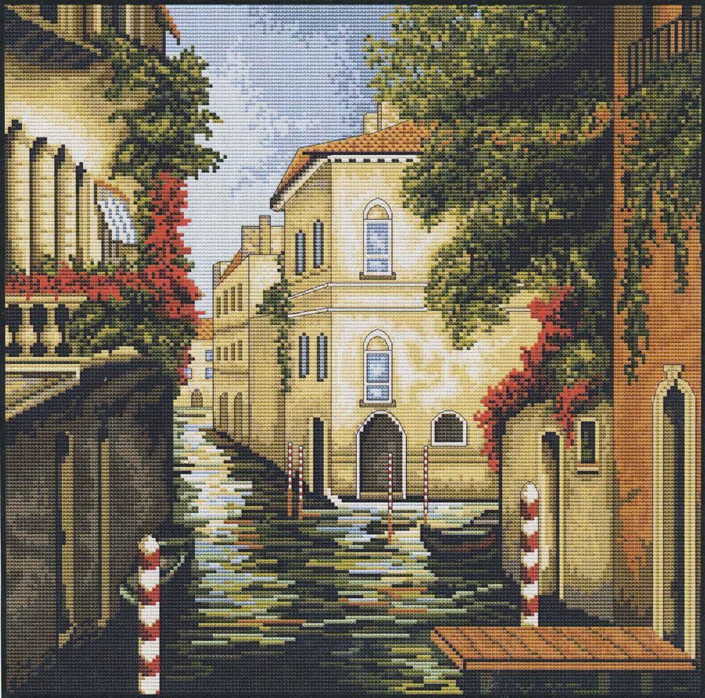 Набор для вышивания крестом Luca-S Венеция в цветах, 28 х 28 см набор для вышивания крестом luca s нежное очарование 28 5 х 38 см