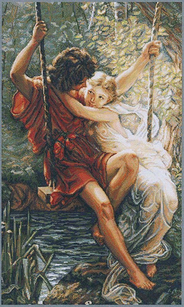 Набор для вышивания крестом Luca-S Весна влюбленных, 36,5 х 59,5 см набор для вышивания крестом luca s улитка 8 5 х 5 см
