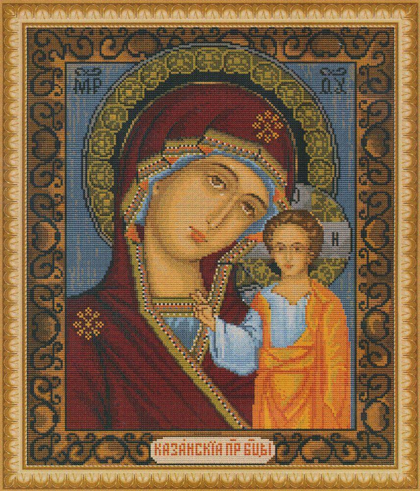 """Набор для вышивания крестом Luca-S """"Казанская Божья Матерь"""", 31 х 25,5 см"""