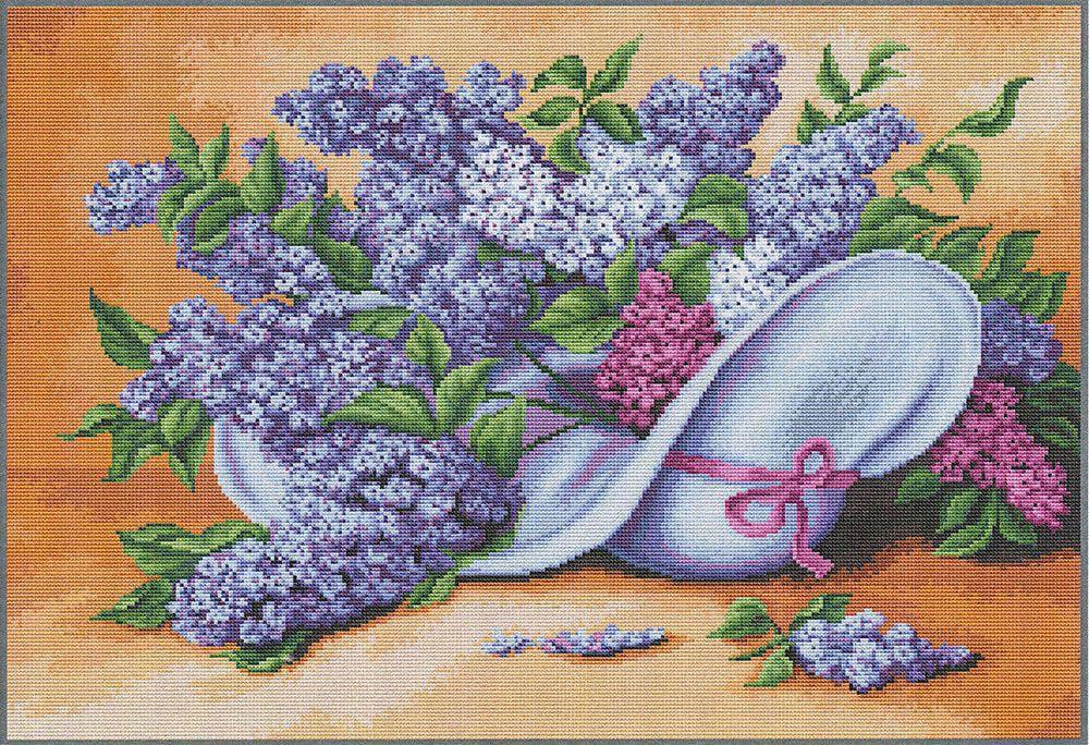 Набор для вышивания крестом Luca-S Сирень, 42 х 28 см набор для вышивания крестом luca s улитка 8 5 х 5 см