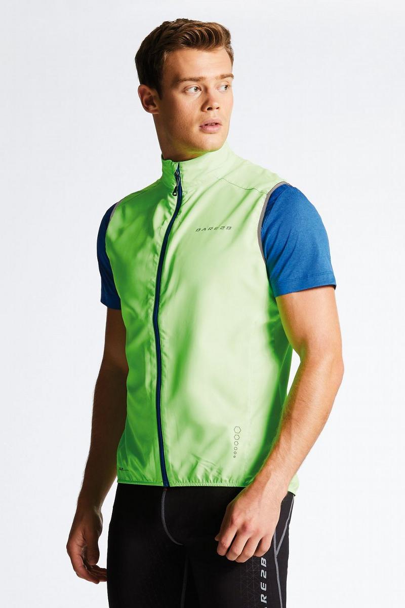 Велокуртка мужская Dare 2b Fired Up II Vest, цвет: зеленый. DML367-1FR. Размер 3XL (62)