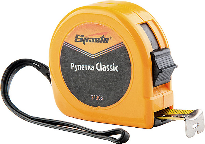 "Рулетка Sparta ""Classic"", цвет: оранжевый, 13 мм х 2 м"