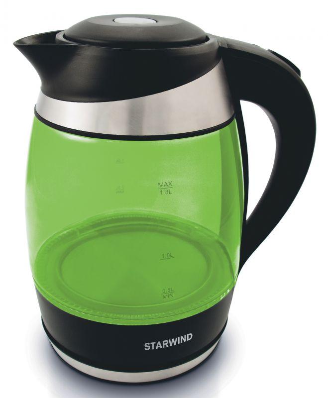 Электрический чайник Starwind SKG2213, Green Black