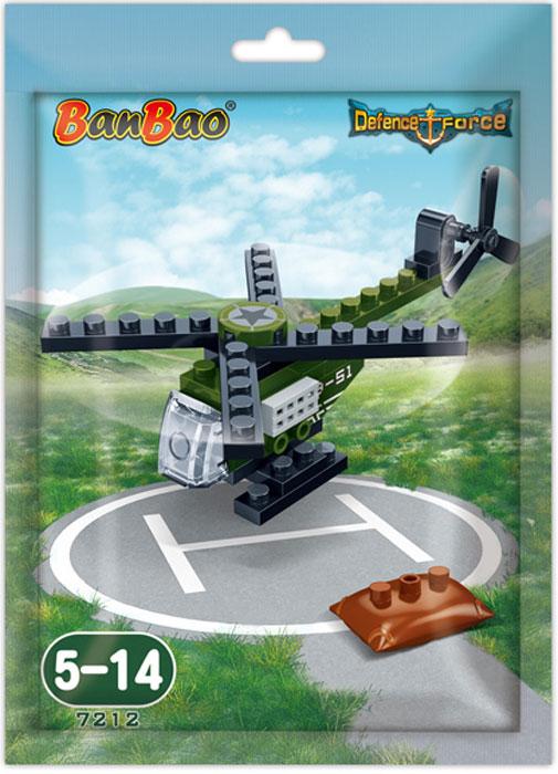 BanBao Конструктор Военный вертолет 29 деталей конструктор banbao кафе мороженое 223 деталей 6117