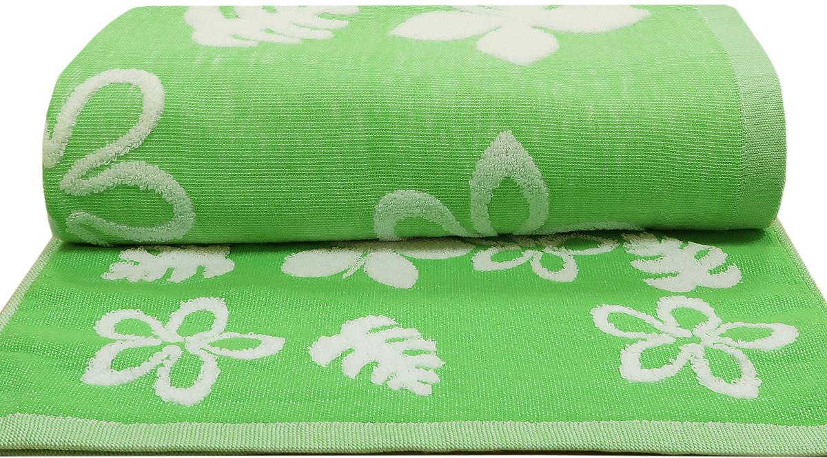 Полотенце махровое Bravo Полька, цвет: зеленый, 65 x 130 см