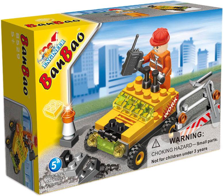 BanBao Конструктор Строительная машинка 48 деталей banbao конструктор джип 37 деталей