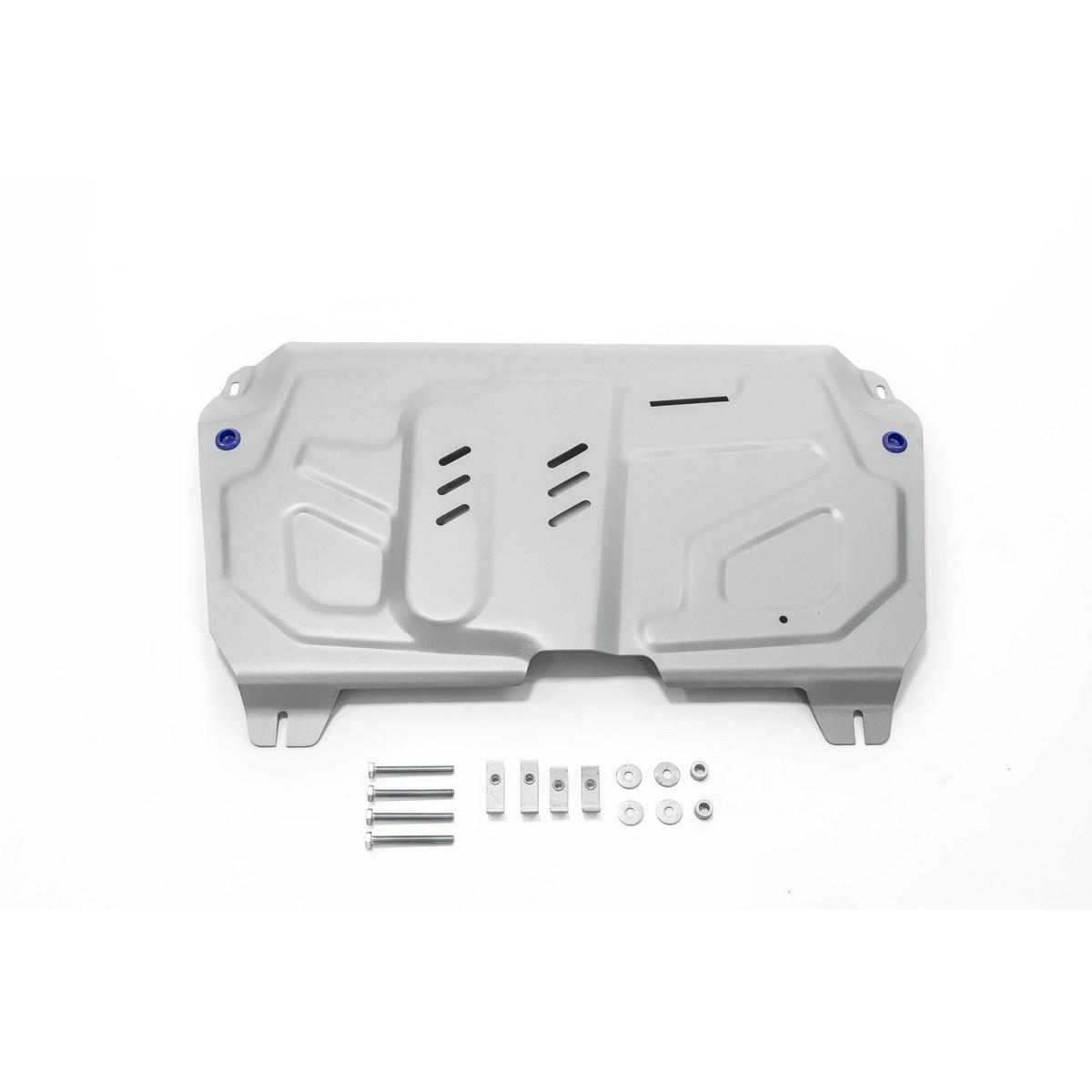 Защита картера и КПП Rival (увеличенная) для Lexus ES 2012-2018/RX 270/350/200t/450h 2008-н.в./Lifan Murman МКПП 2017-н.в./Toyota Camry 2006-2018/Highlander 2010-2014 2014-2017 2017-н.в./Venza 2013-2016, алюминий 4 мм, с крепежом. 333.5781.1