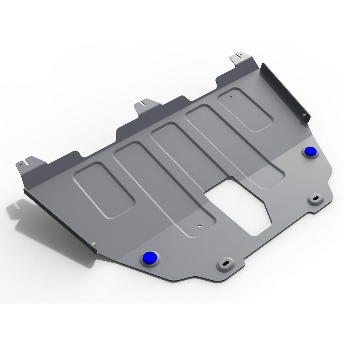 Защита картера и КПП Rival для Jeep Renegade 4WD 2015-н.в., алюминий 4 мм, с крепежом. 333.2736.1