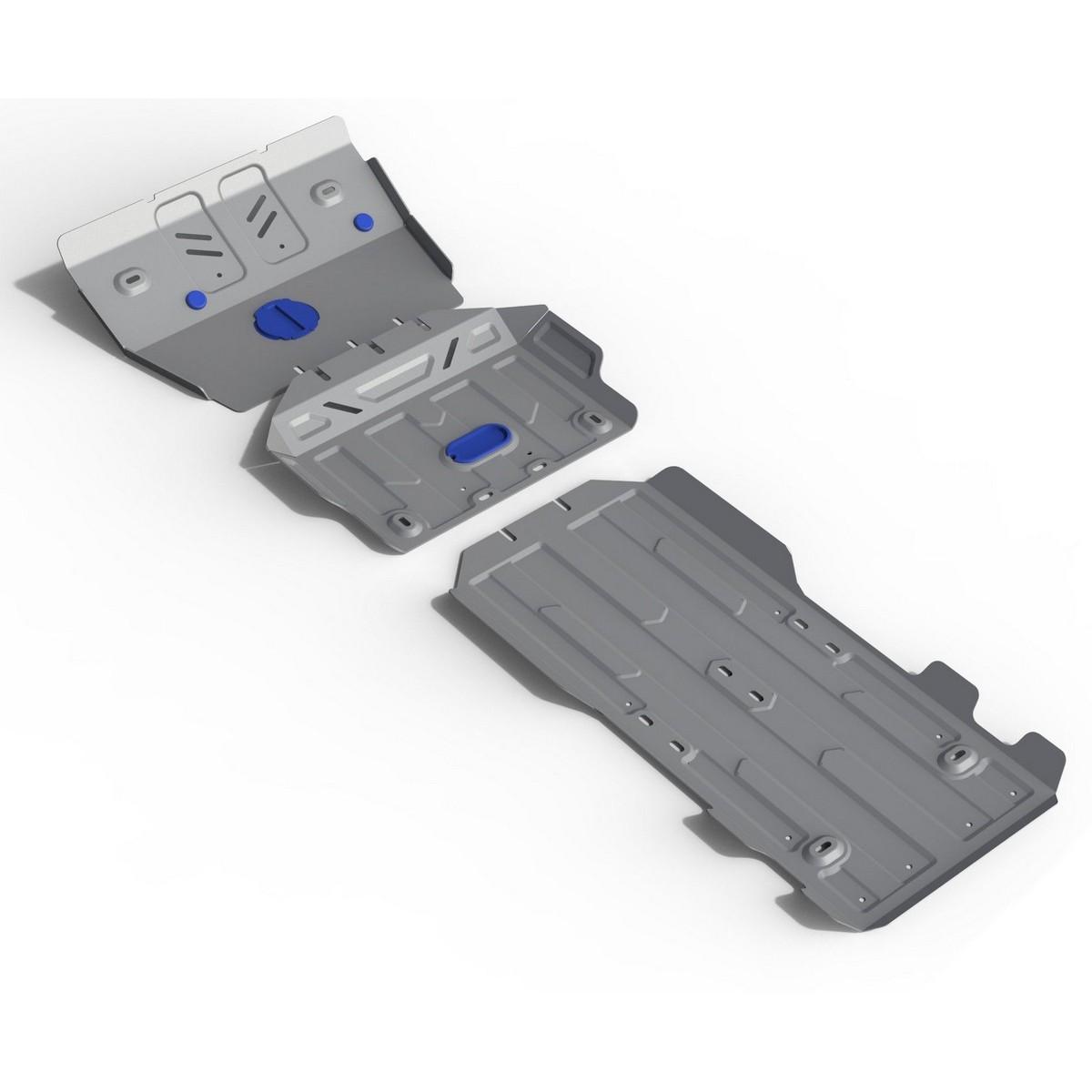 Защита радиатора, картера, КПП и РК Rival для Lexus GX 460 2009-2013 2013-н.в./Toyota Land Cruiser 150 Prado 2009-2013 2013-2017 2017-н.в., алюминий 4 мм, с крепежом. K333.9516.1 защита радиатора картера кпп и рк rival для lexus gx 460 2009 2013 сталь 2 мм