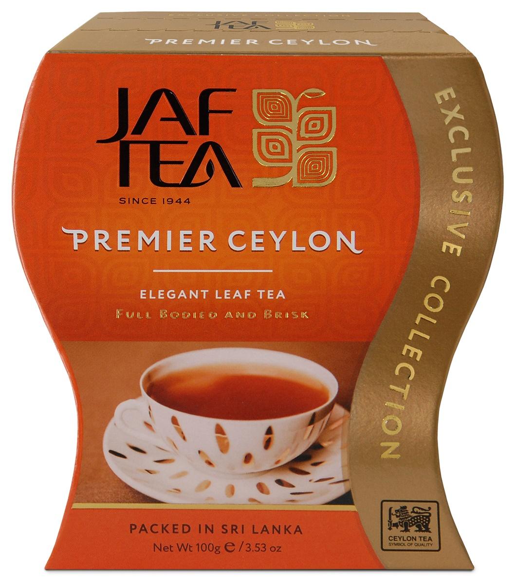 Jaf Tea Premier Ceylon сорт FBOP чай черный листовой, 100 г jaf tea earl grey classic чай черный листовой с ароматом бергамота 100 г