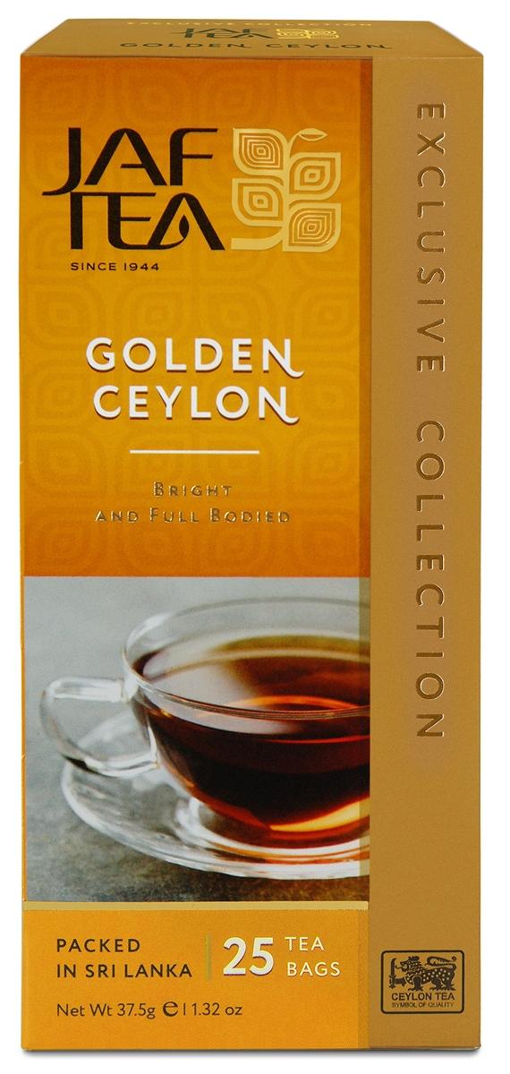 Jaf Tea Golden Ceylon чай черный в пакетиках, 25 шт беседа черный чай в пакетиках 24 шт