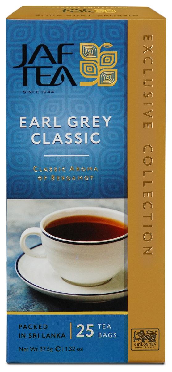 Jaf Tea Earl Grey Classic чай черный в пакетиках, 25 шт jaf tea earl grey classic чай черный листовой с ароматом бергамота 100 г