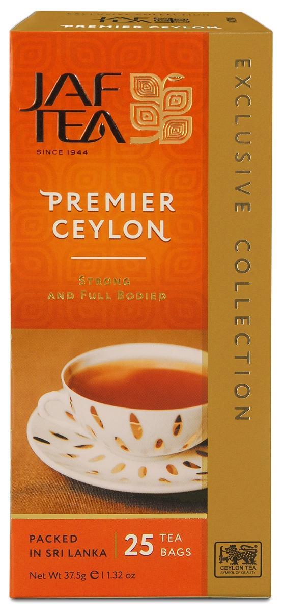 Jaf Tea Premier Ceylon чай черный в пакетиках, 25 шт champion черный листовой чай в пакетиках 25 шт