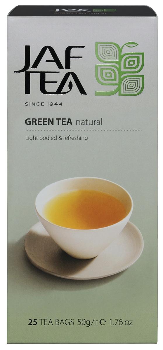 Jaf Tea Green Natural чай зеленый в пакетиках, 25 шт