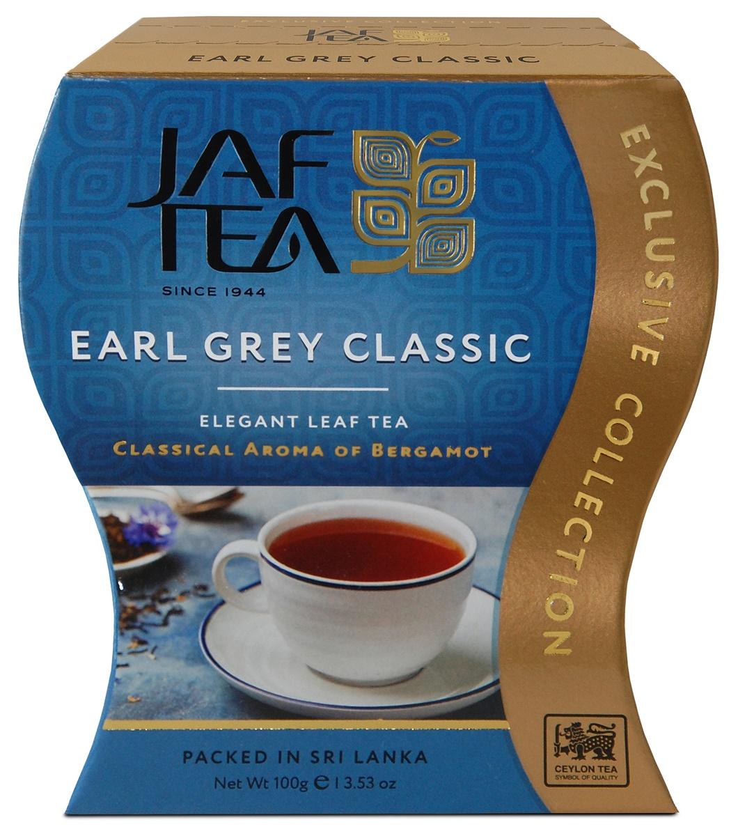 Jaf Tea Earl Grey Classic чай черный листовой с ароматом бергамота, 100 г ahmad tea earl grey черный листовой чай 100 г ж б