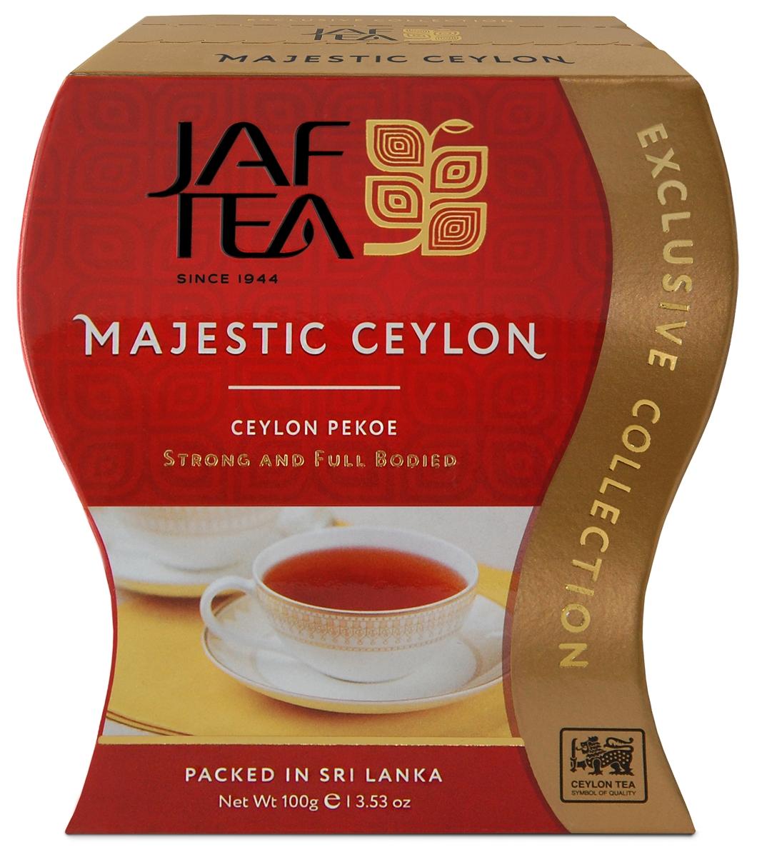 Jaf Tea Majestic сорт Pekoe чай черный листовой, 100 г shere tea престижная коллекция pekoe чай черный листовой 250 г