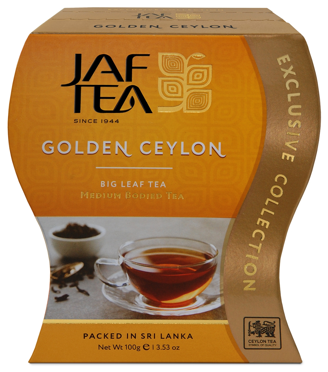 Jaf Tea Golden Ceylon сорт Оpa чай черный листовой, 100 г чай листовой good tea автор набор 4 190 г 10 фильтр пакетов и мерная ложка