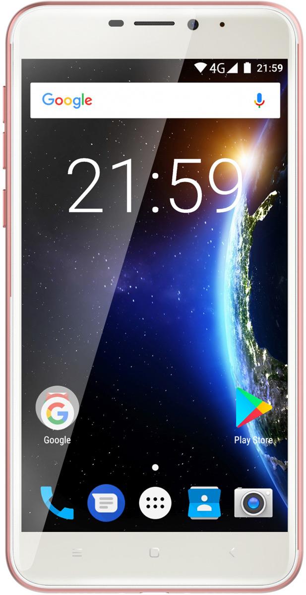 Смартфон Just5 Cosmo L707 16 GB, розовый just5 freedom c100 gold