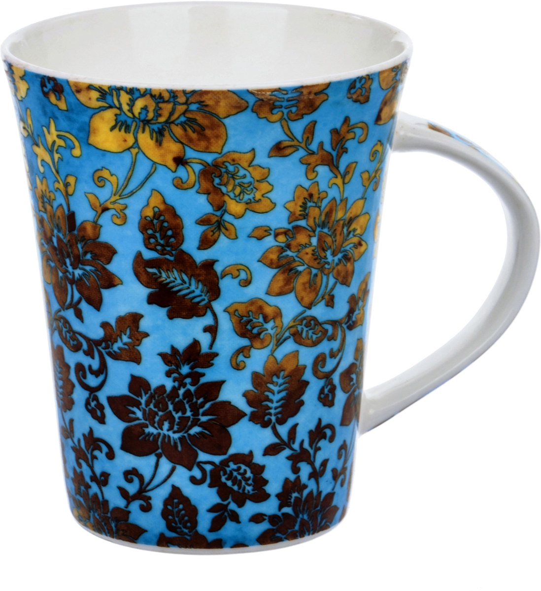 Кружка Liling Quanhu Восточный орнамент, цвет: голубой, 380 мл кружка liling quanhu букет дизайн 1 380 мл