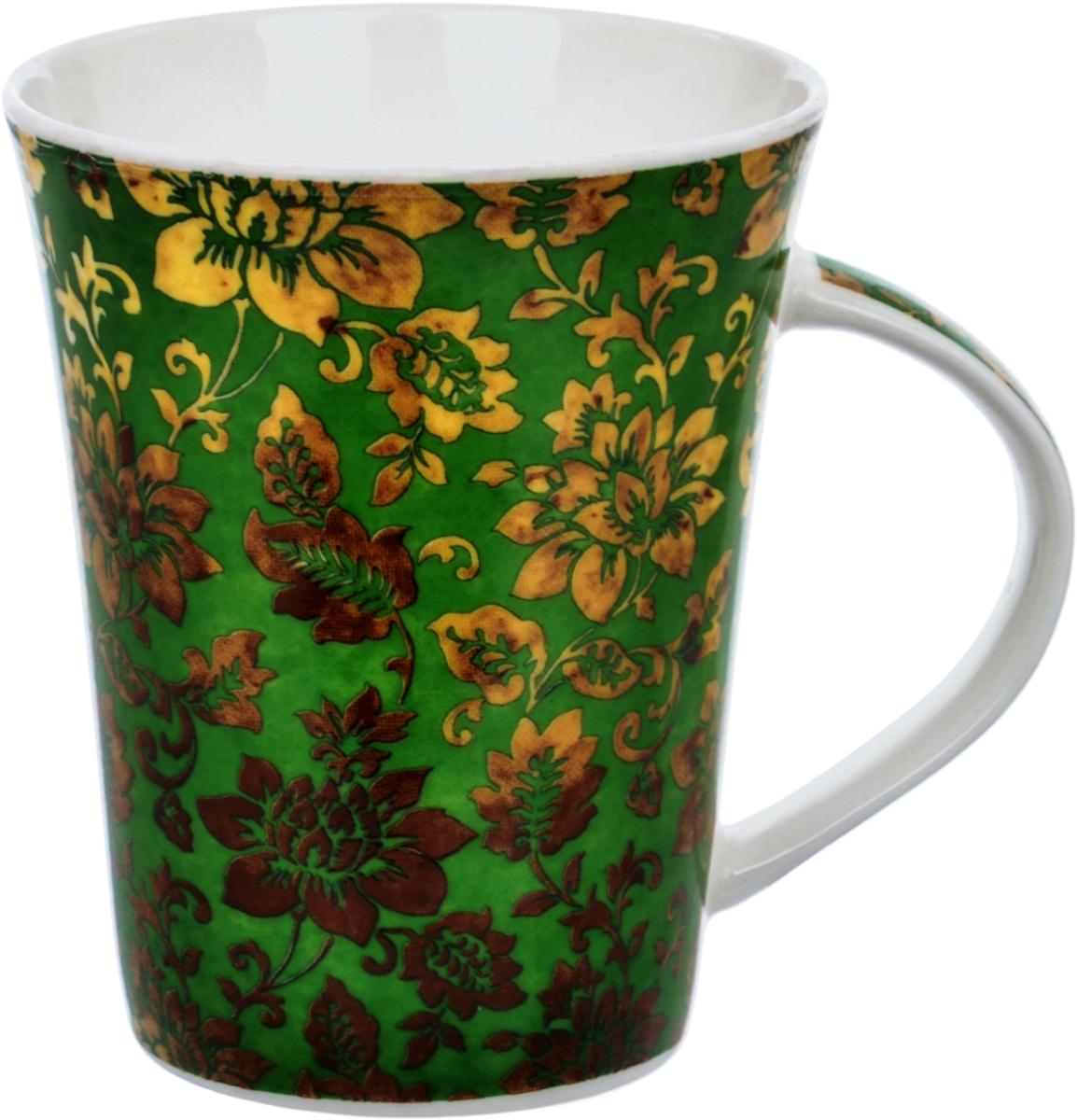 Кружка Liling Quanhu Восточный орнамент, цвет: зеленый, 380 мл кружка liling quanhu букет дизайн 1 380 мл