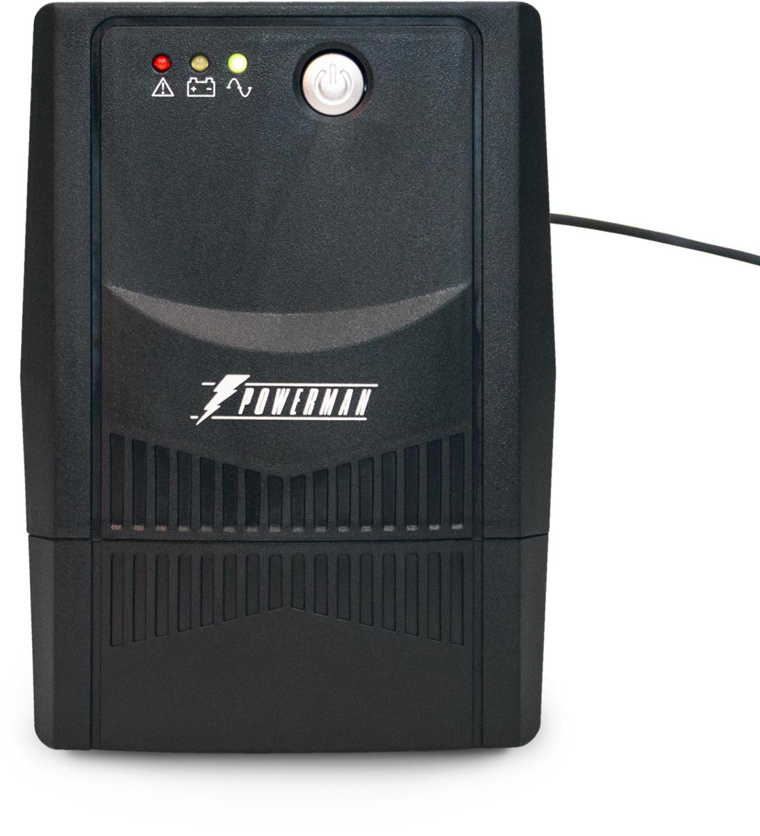 Источник бесперебойного питания Powerman UPS Вack Pro 600 Plus, 600 ВА источник бесперебойного питания powerman ups вack pro 1000 1000 ва