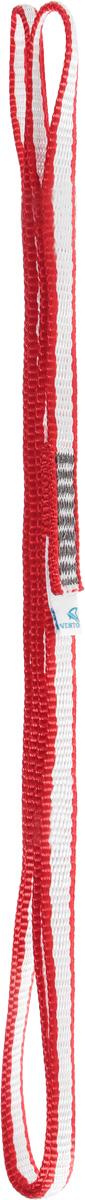 Петля стационная VENTO Лайт, стропа Dyneema 10 мм, цвет: красный, длина 80 см закладка для альпинизма vento сувенирная