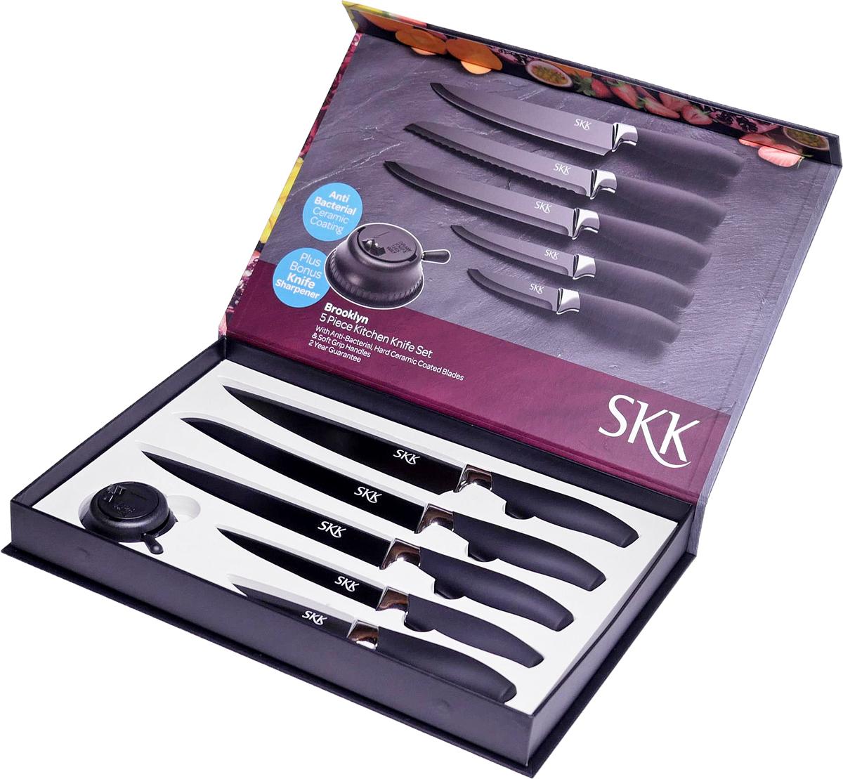 Набор кухонных ножей SKK Line Brooklyn, 5 предметов набор кухонных ножей 3 шт 7941 clasica серия clasica