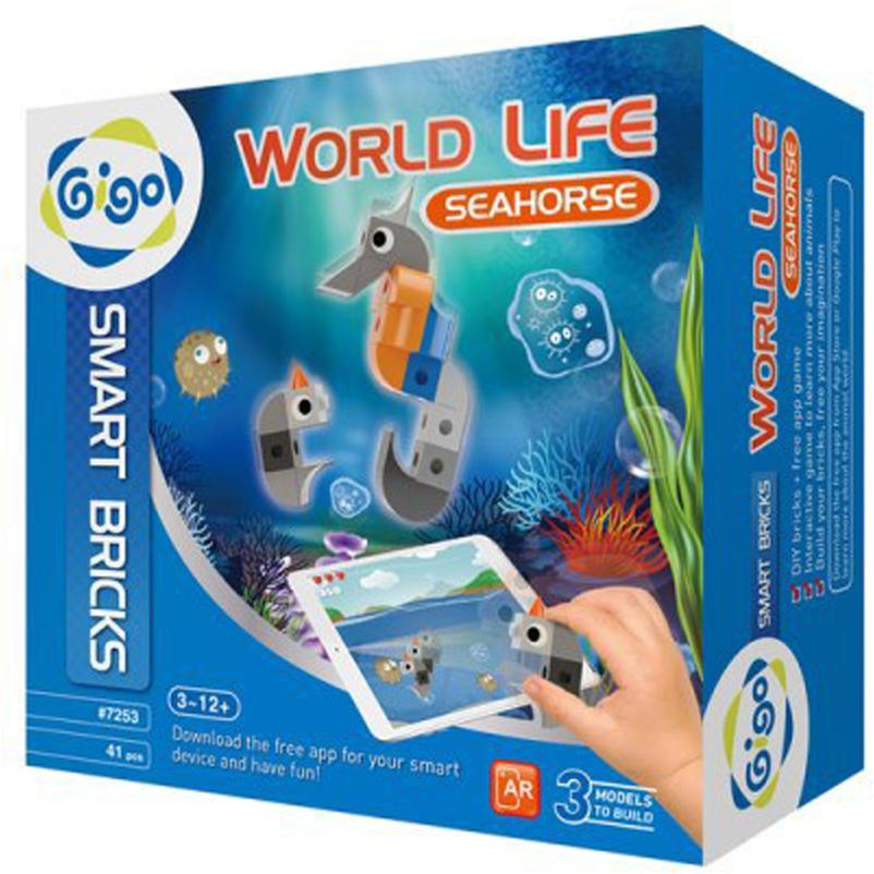 Gigo Конструктор Животный мир Морской конек конструктор развивающий gigo маленькие часы