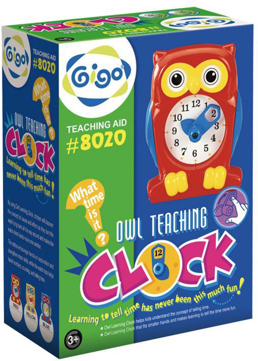 Gigo Конструктор Часы Сова мягкая игрушка развивающая k s kids часы сова