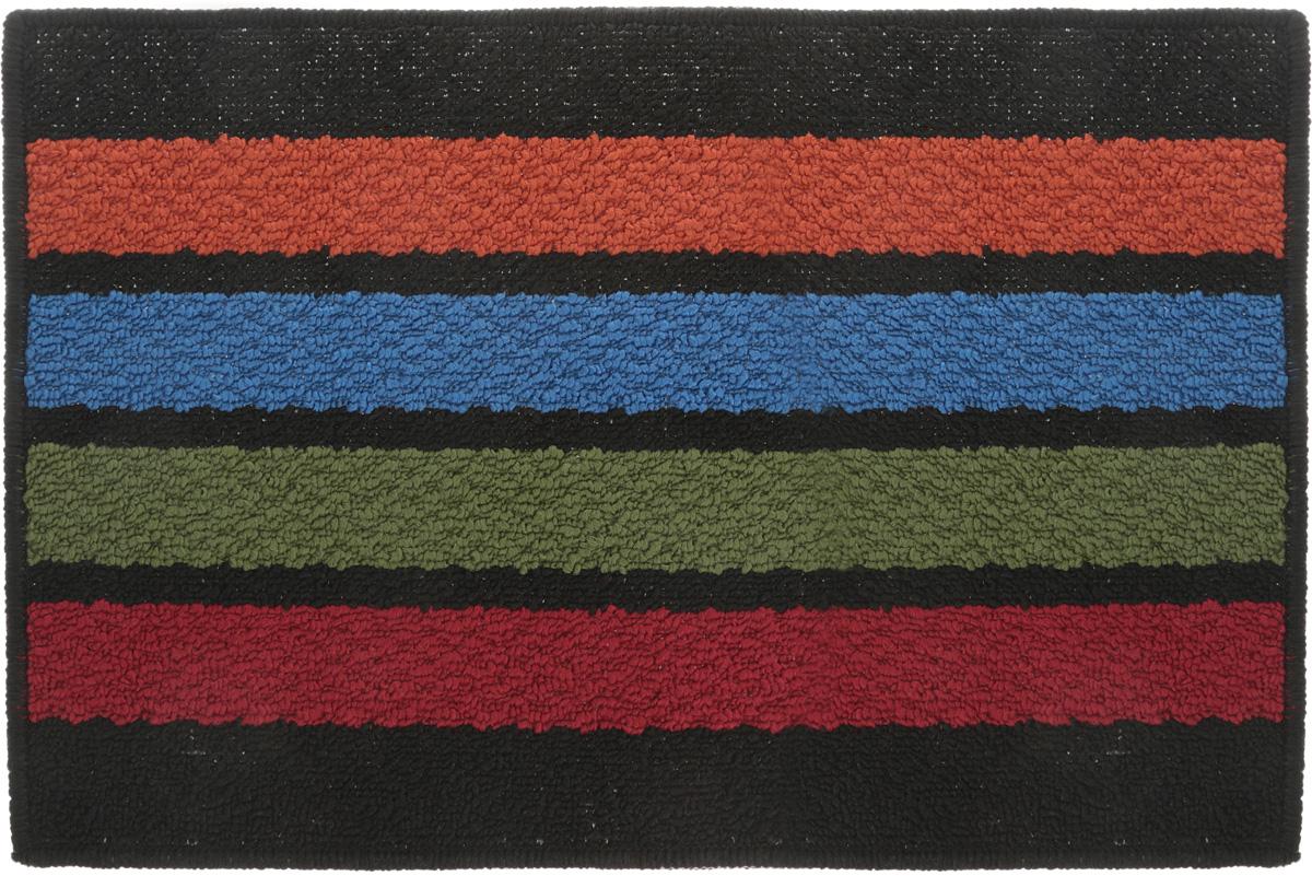 Коврик придверный Vortex Barcelona, цвет: черный, мультиколор, 38 х 58 см коврик придверный vortex клен грязесборный цвет черный 40 х 60 см