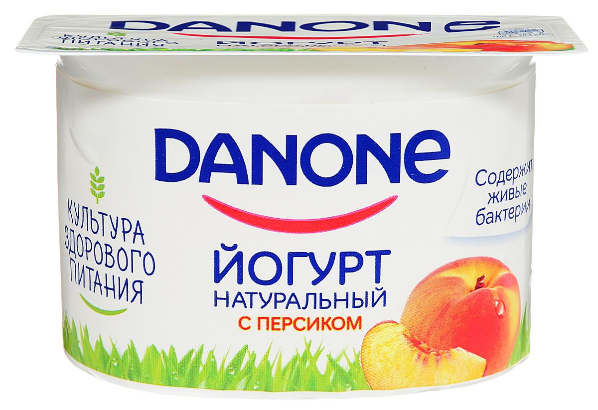 Danone Йогурт густой Персик 2,9%, 110 г danone продукт творожный персик абрикос 3 6% 170 г