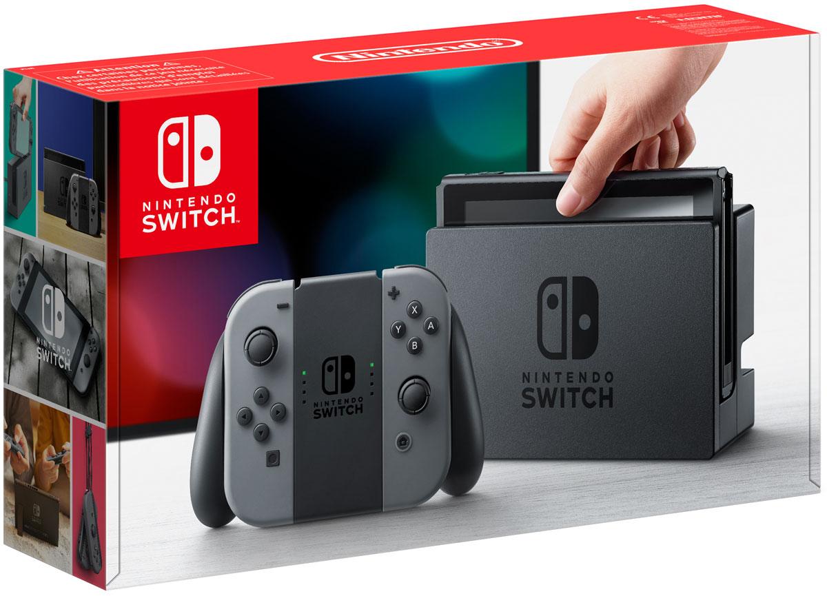 лучшая цена Игровая консоль Nintendo Switch ConSWT1, Grey
