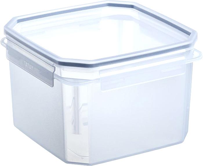 Контейнер пищевой TATAY, цвет: серый, 2,9 л контейнер пищевой tatay цвет оранжевый круг диаметр 26 см