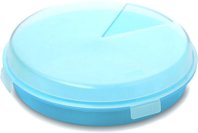 Контейнер пищевой TATAY, цвет: синий, диаметр 26 см контейнер пищевой tatay цвет оранжевый круг диаметр 26 см