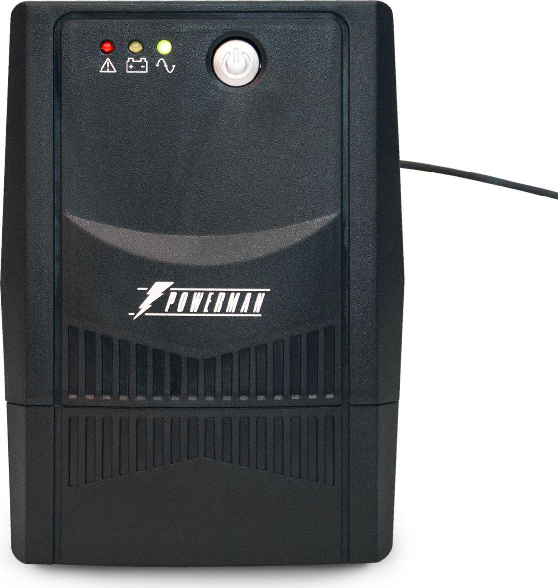 Источник бесперебойного питания Powerman UPS Вack Pro 800, 800 ВА источник бесперебойного питания powerman ups вack pro 1000 1000 ва